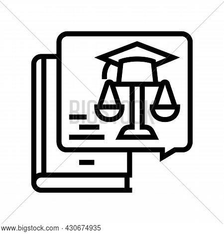 Education History Line Icon Vector. Education History Sign. Isolated Contour Symbol Black Illustrati