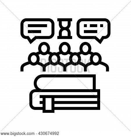 Social History Line Icon Vector. Social History Sign. Isolated Contour Symbol Black Illustration