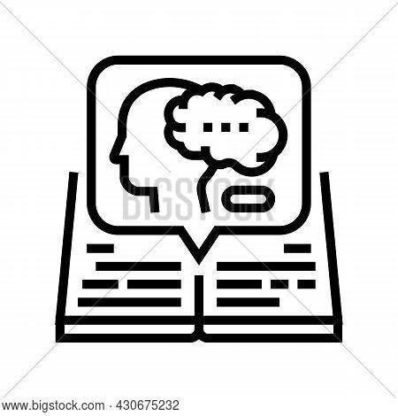 Intellectual History Line Icon Vector. Intellectual History Sign. Isolated Contour Symbol Black Illu