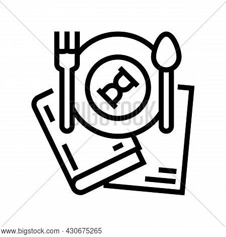 Food History Line Icon Vector. Food History Sign. Isolated Contour Symbol Black Illustration