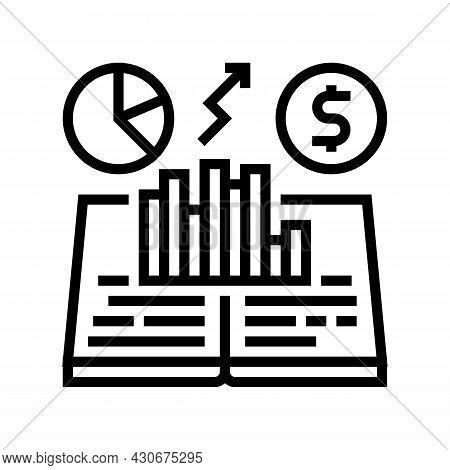 Economic History Line Icon Vector. Economic History Sign. Isolated Contour Symbol Black Illustration