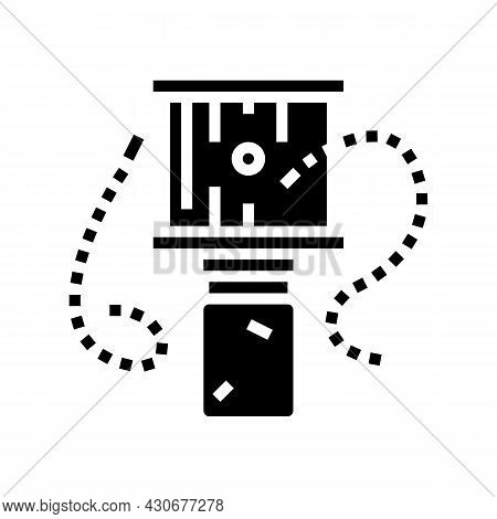 Bee Trap Beekeeping Glyph Icon Vector. Bee Trap Beekeeping Sign. Isolated Contour Symbol Black Illus