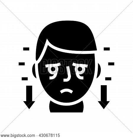 Hyperthyroidism Endocrinology Glyph Icon Vector. Hyperthyroidism Endocrinology Sign. Isolated Contou