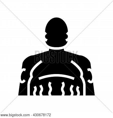Cushing Disease Endocrinology Glyph Icon Vector. Cushing Disease Endocrinology Sign. Isolated Contou