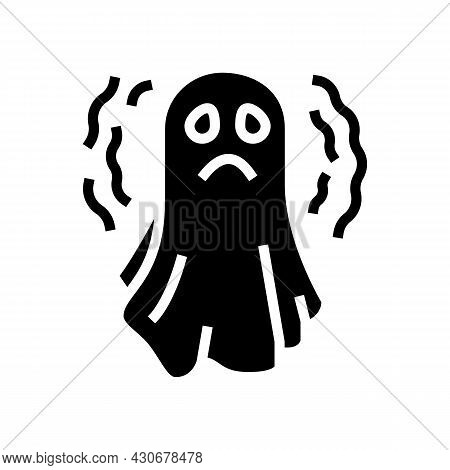 Ghost Halloween Glyph Icon Vector. Ghost Halloween Sign. Isolated Contour Symbol Black Illustration