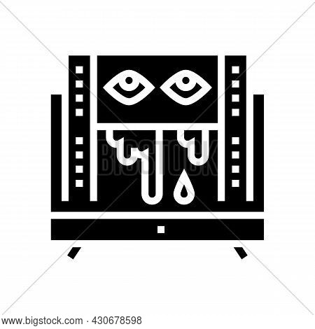 Horror Halloween Glyph Icon Vector. Horror Halloween Sign. Isolated Contour Symbol Black Illustratio