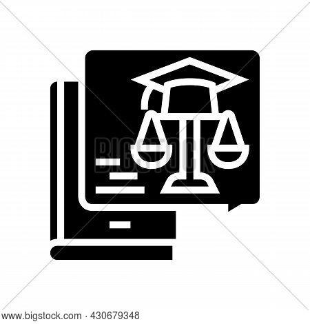 Education History Glyph Icon Vector. Education History Sign. Isolated Contour Symbol Black Illustrat