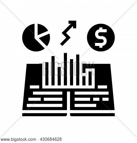 Economic History Glyph Icon Vector. Economic History Sign. Isolated Contour Symbol Black Illustratio