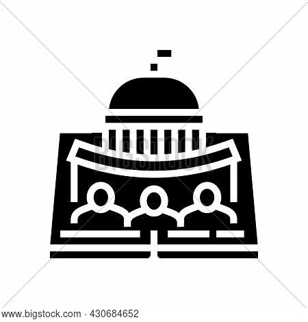 Political History Glyph Icon Vector. Political History Sign. Isolated Contour Symbol Black Illustrat