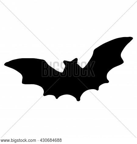 Vector Silhouette Of A Black Bat For The Template And Background Of The Packaging Design For Hallowe