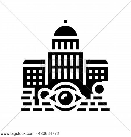 Government Accountability And Transparency And Corruption Social Problem Glyph Icon Vector. Governme