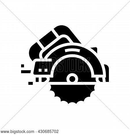 Circular Saw Tool Glyph Icon Vector. Circular Saw Tool Sign. Isolated Contour Symbol Black Illustrat