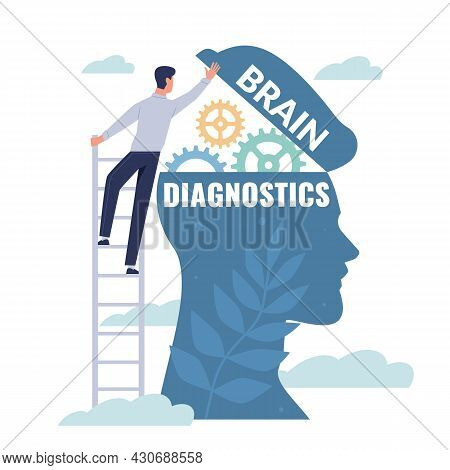 Brain Diagnostics. Patients Mind Examination. Study Of Memory And Intelligence. Neurology Or Psychol
