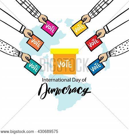 Poster For International Day Of Democracy September 15.