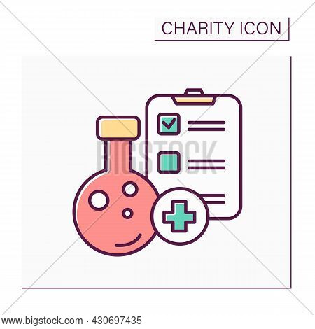 Medical Research Financing Color Icon.medicine Development.volunteers In Medical Research. Investiti