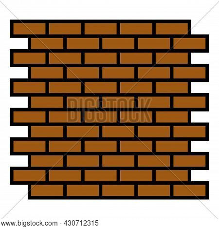 Red Brick Wall Seamless Vector Background Illustration - Texture Pattern For Continuous Replicate. C