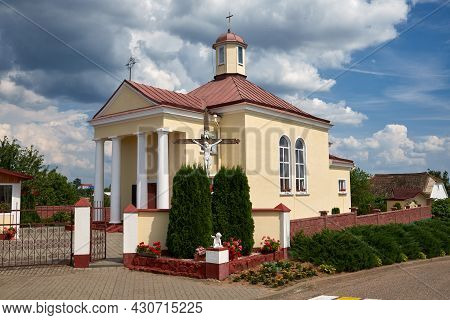 Old Ancient Catholic Church Of The Mother Of God In Korelichi, Grodno Region, Belarus.