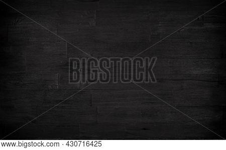 Old black grey rustic dark wooden texture - wood background horizontal banner