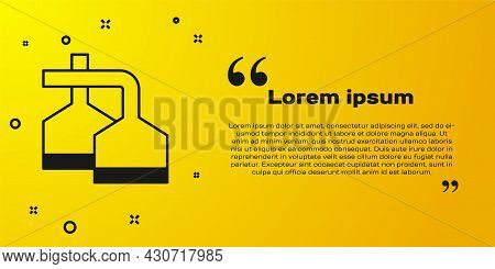 Black Traditional Brewing Vessels In Brewery Icon Isolated On Yellow Background. Beer Brewing Proces