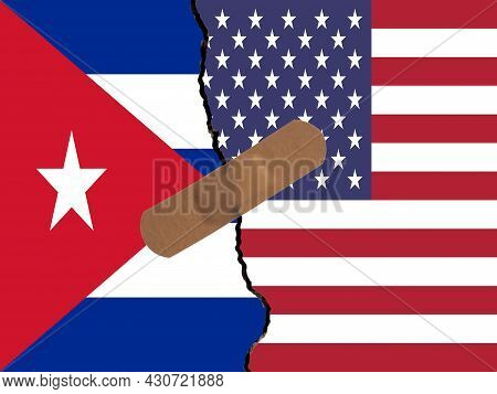 Restoring Relations Between Cuba And Usa. A Plaster That Binds The Crack In Relations.