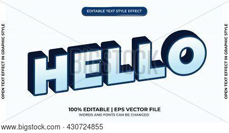 Hello Editable Text Effect