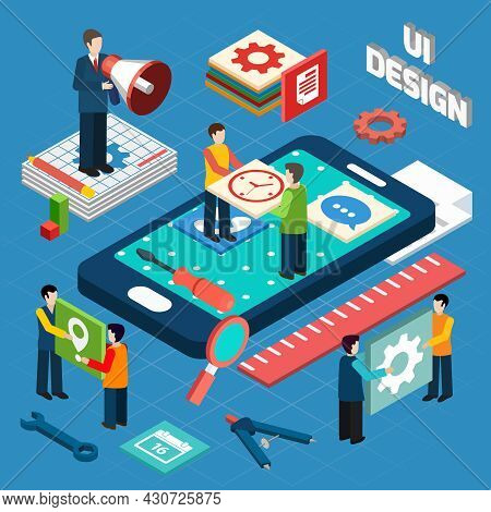 User Interface Engineering For Electronic Appliances And Mobile Devices Concept Pictograms Compositi