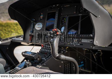 Helicopter Transportation Cockpit Look At Inside Cockpit