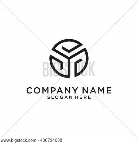 Initial Letter Y Logo Design Template Vector On White Background. Y Icon