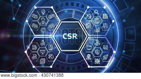 Csr Abbreviation, Modern Technology Concept. Business, Technology, Internet And Network Concept. 3d
