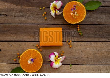 Herbal Soap Extract Orange Fruits Health Care For Body Skin Of Lifestyle Clean A Bath Arrangement Fl