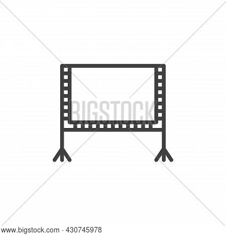 Blank Billboard Line Icon. Linear Style Sign For Mobile Concept And Web Design. Whiteboard Outline V