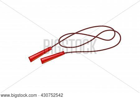 Skipping Rope. Sports Equipment For Athletes. Symbol, Icon. Isolated On White Background. Colorful I