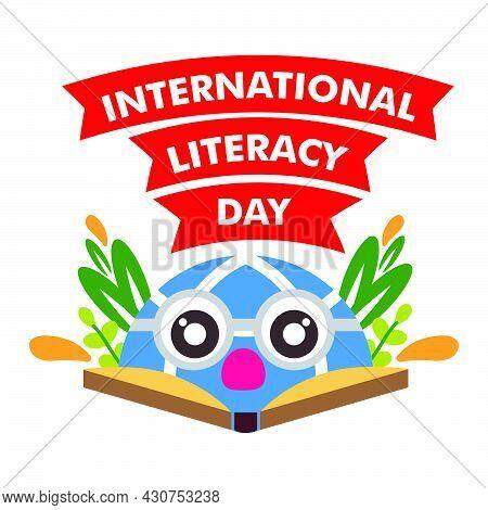 International Literacy Day Illustration. Book Illustration Design Concept