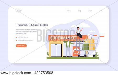 Food And Staples Retailing Industry Sector Of The Economy Web Banner