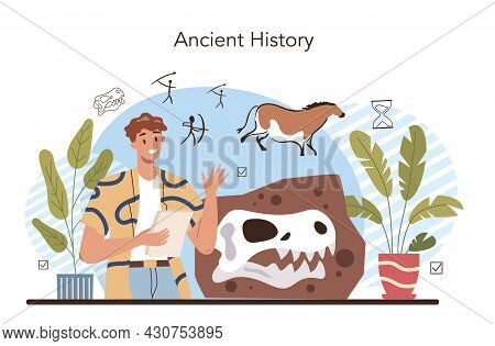 History Lesson Concept. History School Subject, Knowledge Of The Past