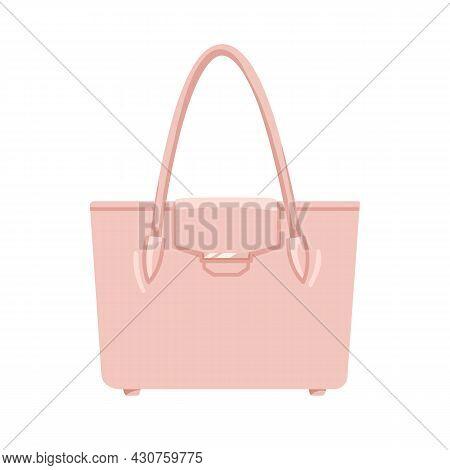 Women Fashion Hand Bag With Single Top Handle. Handleheld Handbag With Small Flap Cover. Modern Styl