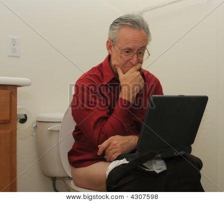 Senior Laptop Toilet