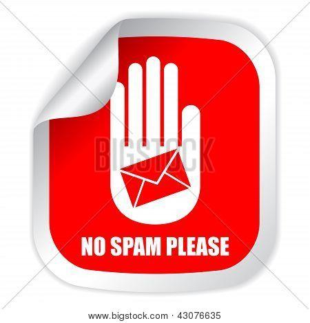 No spam vector label