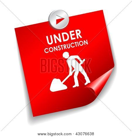 Under construction vector sticker