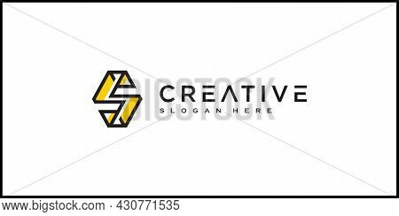 Initial Letter S Logo Vector Design Line Style