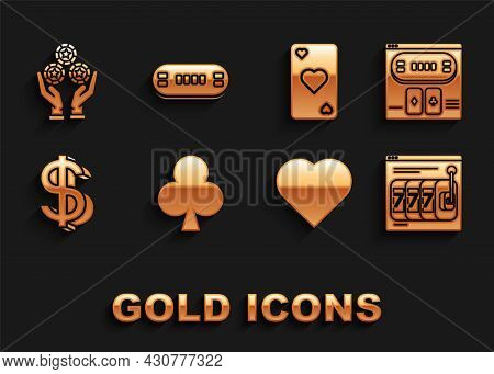 Set Playing Card With Clubs Symbol, Online Poker Table Game, Slot Machine Lucky Sevens Jackpot, Hear