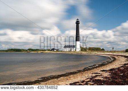 Saare, Estonia - 14 August, 2021: The Sorve Lighthouse On Saaremaa Island Of Estonia