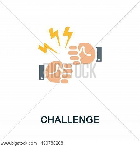 Challenge Flat Icon. Simple Sign From Gamification Collection. Creative Challenge Icon Illustration