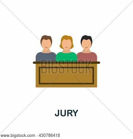 Jury Icon. Flat Sign Element From Law Collection. Creative Jury Icon For Web Design, Templates, Info
