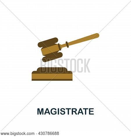 Magistrate Icon. Flat Sign Element From Law Collection. Creative Magistrate Icon For Web Design, Tem