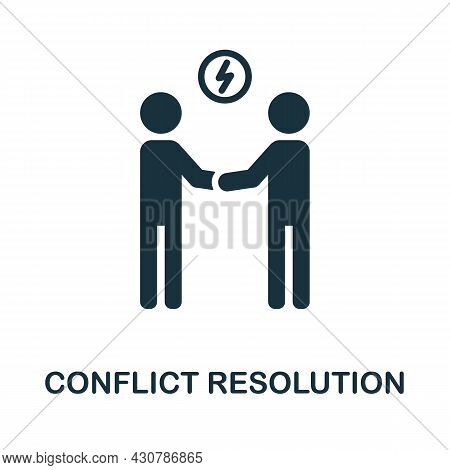 Conflict Resolution Flat Icon. Colored Sign From Leadership Collection. Creative Conflict Resolution