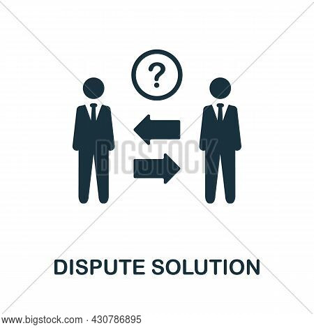 Dispute Solution Flat Icon. Colored Sign From Leadership Collection. Creative Dispute Solution Icon