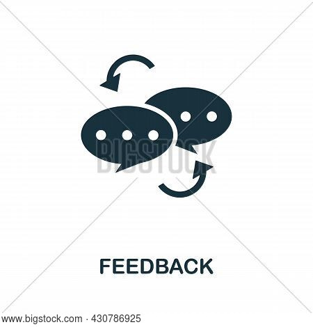 Feedback Flat Icon. Colored Sign From Leadership Collection. Creative Feedback Icon Illustration For