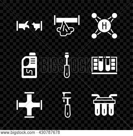 Set Broken Pipe, Water Tap, Industry Metallic, Pipe Adjustable Wrench, Filter, Drain Cleaner Bottle