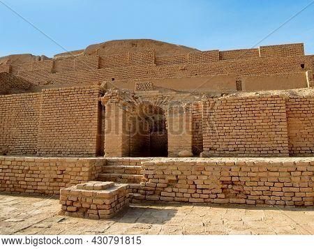 One Of Gates Of Protection Wall Of Ziggurat Chogha Zanbil, Near Shush, Iran. Pyramid Is One Of Most